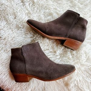 Jack Rogers Gray Suede Bailee Ankle Boots